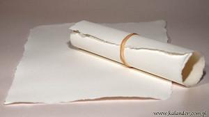 papier czerpany biały