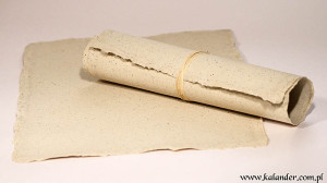 papier czerpany kawa
